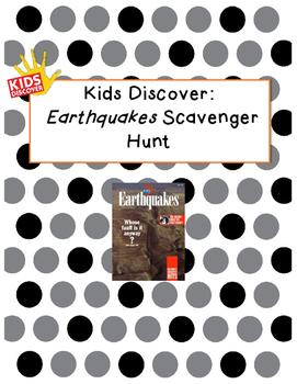 Kids Discover Earthquakes Scavenger Hunt