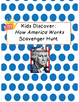 Kids Discover How America Works Scavenger Hunt