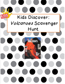 Kids Discover Volcanoes Scavenger Hunt