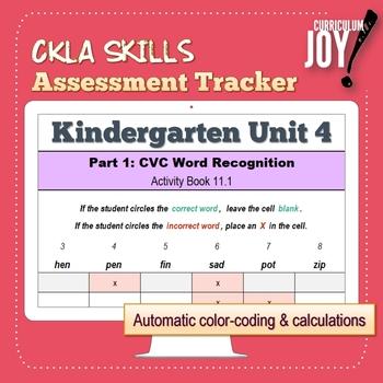 [Kindergarten] CKLA Skills Assessment Tracker (Unit 4)