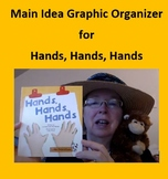 (Kindergarten/DRA 2) Main Idea Graphic Organizer for Hands