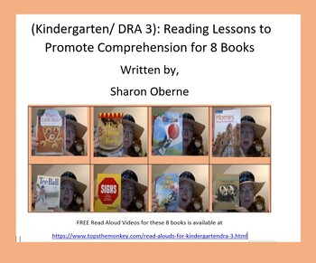 (Kindergarten/DRA 3) Reading Lessons to Promote Comprehension for 8 Books