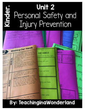{Kindergarten} Personal Safety and Injury Prevention Activity Packet