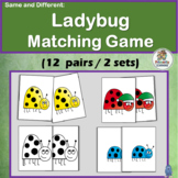 Match the Same and Different Ladybugs