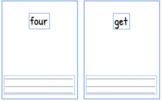 Kindergarten Sight Word Mats- Read it, Write it, Make - Morning Tubs Activity