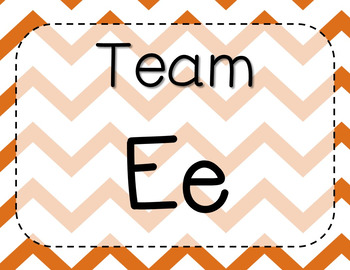 * Rotating - Team Table Signs :) (Colorful Chevron)