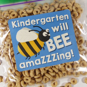 Kindergarten will be amazing! - Goodie bag labels - Back to school - End of year