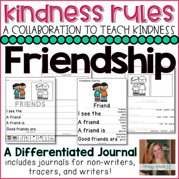 #KindnessRules : FREE Friendship Differentiated Journals (Special Education)