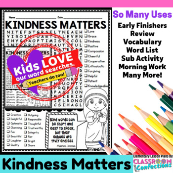 Kindness Matters Word Search
