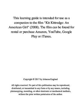 """""""Kitt Kittredge: An American Girl"""" Great Depression Film Study"""