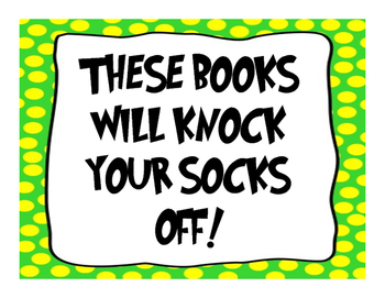 """Knock Your Socks Off"" Display Sign"