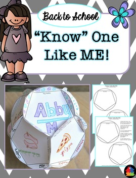 """Know"" One Like Me - Back to School Dodecahedron"