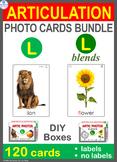 /L/ Articulation Photo Card Bundle: /L/ & /L/ Blends Speech Therapy