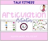 /L/ Articulation activities