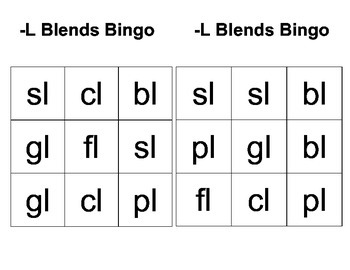 -L Blends Bingo