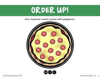 L CLUSTERS Pizza Articulation Cards for Single & Multisyllabic Words & Sentences