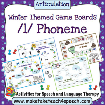 /L/ Phoneme - Winter Themed Game Boards