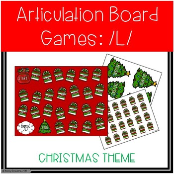 /L/ and /L/-Blends Articulation Board Games - Christmas Theme