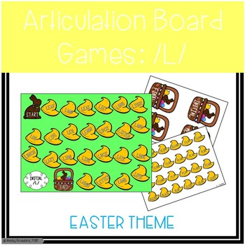/L/ and /L/-Blends Articulation Board Games - Easter Theme