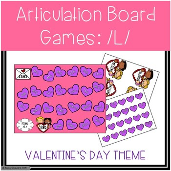 /L/ and /L/-Blends Articulation Board Games - Valentine's Day Theme