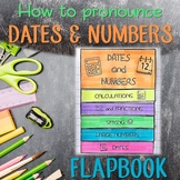 ✀ LAPBOOK ✀ How to pronounce DATES and NUMBERS