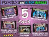 """""""LATIN POP"""" & """"K-POP"""" 5-Pack Music Bundle (slides, links, games handouts & more)"""