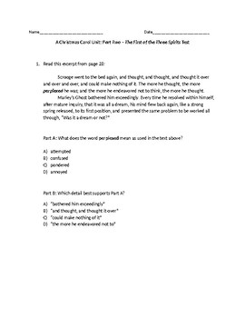 (LEAP/PARCC-like) Grade 7: Guidebook A Christmas Carol Unit: Stave 2