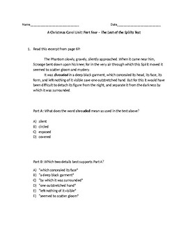 (LEAP/PARCC-like) Grade 7: Guidebook A Christmas Carol Unit: Stave 4