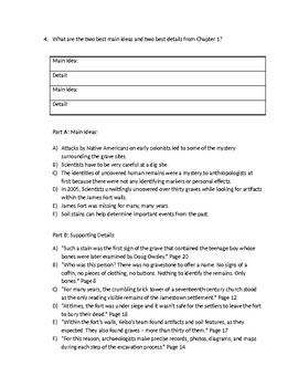 (LEAP/PARCC-like) Grade 7: Guidebook Written in Bone Unit: Chapters 1-2 Test