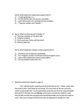 (LEAP/PARCC-like) 5 Narnia: The Lion, the Witch, & the Wardrobe Ch. 1 - 4 Test