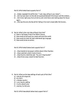 (LEAP/PARCC-like) 5th Guidebook Wonderstruck Part One Test