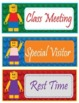 """LEGO like"" - Block Theme Schedule Cards - EDITABLE"