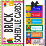 LEGO Decor Schedule Cards - EDITABLE