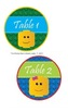 LEGO Like - Block Theme Team & Table Circle Signs - EDITABLE