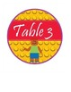 """LEGO like"" - Block Theme Team & Table Circle Signs - EDITABLE"