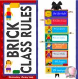 LEGO Decor Classroom Rules - EDITABLE