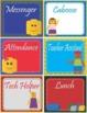 """LEGO like"" - Block Theme Theme Classroom Jobs - EDITABLE"