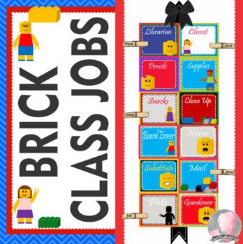 LEGO Like - Block Theme Theme Classroom Jobs - EDITABLE