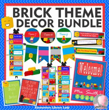 LEGO Like Theme Classroom Decor - BUNDLE