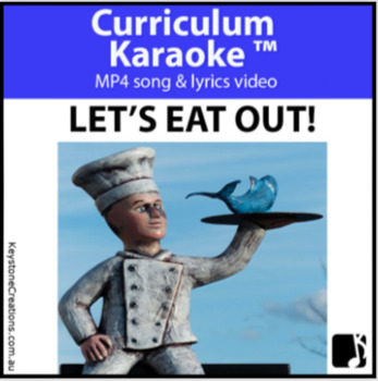 'LET'S EAT OUT!' ~ MP4 Curriculum Karaoke™ ~ Read, Sing & Learn About Food