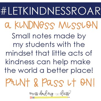 #LETKINDNESSROAR a Student Driven Kindness Project