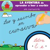 LETRA E -- LA AVENTURA de aprender a leer y escribir en CURSIVA!