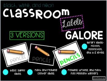 Classroom Supply Labels Library Labels and MORE
