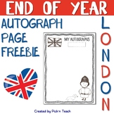"FREE - June 14 - ""LONDON"" autograph page - END OF YEAR"
