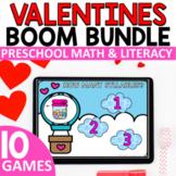 Valentine's Math and Literacy BOOM Games Bundle for Presch