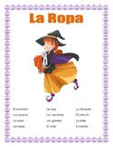 "Distance Learning-La Ropa-Clothes in Spanish-""La Brujita Feliz""-Halloween Themed"
