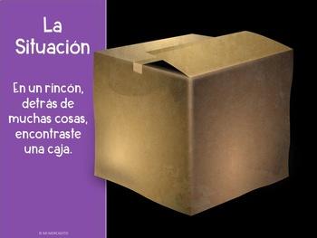 """""""La Caja"""" Spanish Past Tense Writing Prompt"""