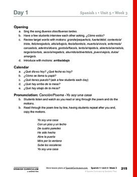 La Casa - Teacher Lesson Plans