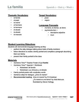 La Familia - Teacher Lesson Plans