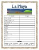 """La Playa"" -Summer Vocabulary in Spanish- Review Clothing/Beach Items"
